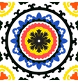 Suzani pattern with bold ornament vector image vector image