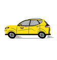 taxi yellow car icon sketch symbol sign vector image