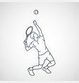 tennis logo icon vector image vector image
