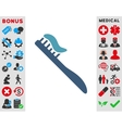 Tooth Brush Icon vector image