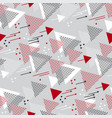 triangle direction geometric seamless pattern vector image