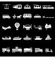 twenty five icons of transport theme vector image