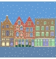 Urban Winter Christmas landscape vector image