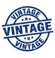 vintage blue round grunge stamp vector image vector image