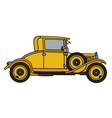 Vintage yellow coupe vector image vector image