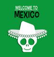 welcome to mexico greeting card vector image