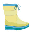 winter warm boot icon flat style vector image vector image