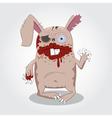 Zombie rabbit vector image vector image