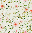 seamless texture with foliate ornament and flowers vector image