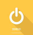 OnOff switch icon Power symbol Flat design vector image