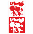 valentines day romantic square template vector image