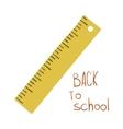 Cute funny flat cartoon school ruler icon vector image