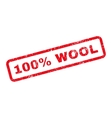 100 Percent Wool Text Rubber Stamp vector image vector image