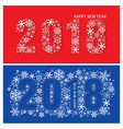 2018 new year banners with snowflakes vector image vector image