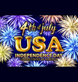 4 th of july usa gold balloons happy independence vector image vector image