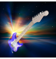 abstract music background with electric guitar and vector image