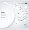 abstract white paper circle infographics vector image vector image