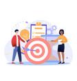 achieving goals concept vector image
