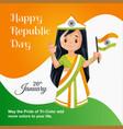 banner design happy republic day vector image