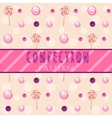 berry-candy pattern on a light background vector image vector image