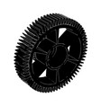 black cogwheel on a white vector image vector image