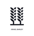black israel barley isolated icon simple element vector image vector image