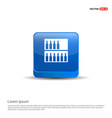 bottles on bar counter icon - 3d blue button vector image vector image