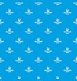 brazil music pattern seamless blue vector image vector image