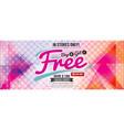 buy 2 get 1 free 6249x2502 pixel banner vector image vector image