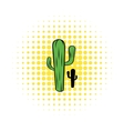 Cactus icon in comics style vector image vector image