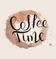 calligraphy coffee time vector image vector image