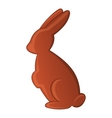 Chocolate easter bunny icon cartoon style vector image vector image