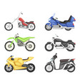 chopper cruiser sport bike and others types of vector image