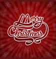 christmas greeting card text merry christmas vector image vector image