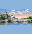 colorful hand drawing paris 5 vector image vector image