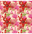 Colorful stylish spring floral seamless pattern vector image vector image