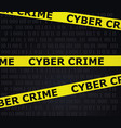 cyber crime tape vector image vector image