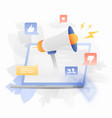 digital marketing creative vector image