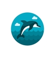 Dolphin icon Summer Vacation vector image