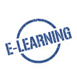 e-learning stamp vector image