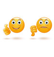 emoticons set demonstrating opposing emotions vector image