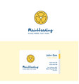 flat fan logo and visiting card template busienss vector image vector image