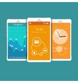 Flat Mobile UI Design vector image vector image