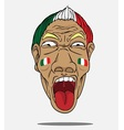 football fan from Italy vector image vector image