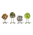 four funny characters made with natural textures vector image
