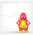 Funny Monster Engry vector image vector image