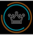 golden crown icon - king crown vector image