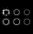 halftone pattern circle dots frames set vector image vector image