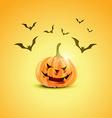 halloween pumpkin design vector image vector image