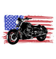 hand drawn and inked vintage american chopper vector image vector image